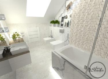 Łazienka na poddaszu – 2 koncepcje