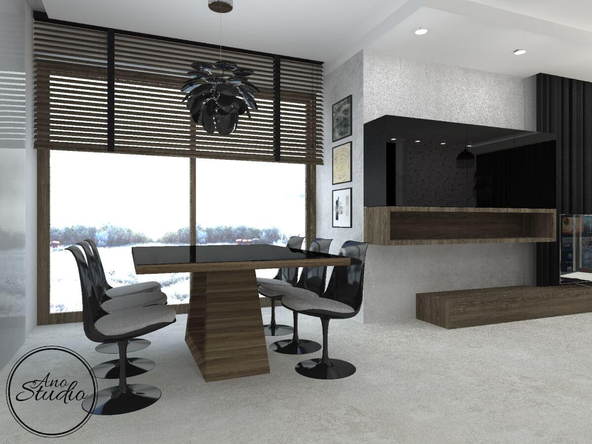 Salon Z Jadalnia Ano Studio Architekt Wnetrz