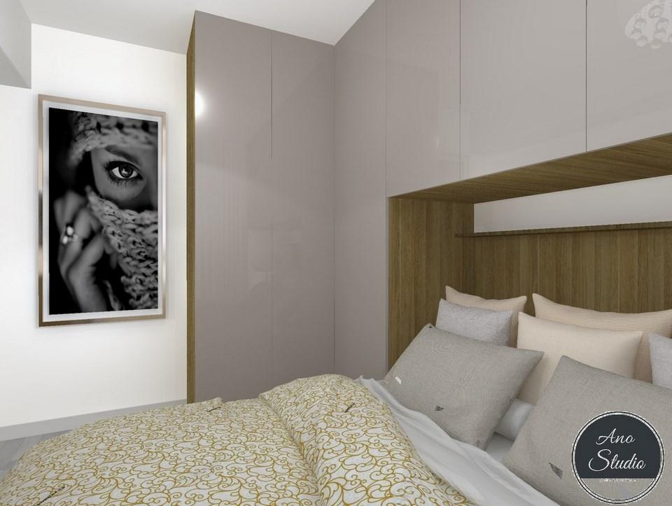 Mała Sypialnia Ano Studio Architekt Wnętrz