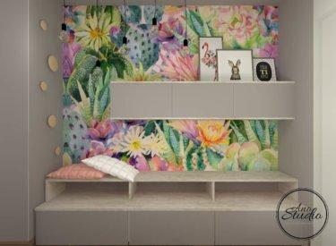 Pokój dla dziewczynki – poddasze