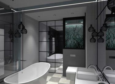 Projekt łazienki w czerni