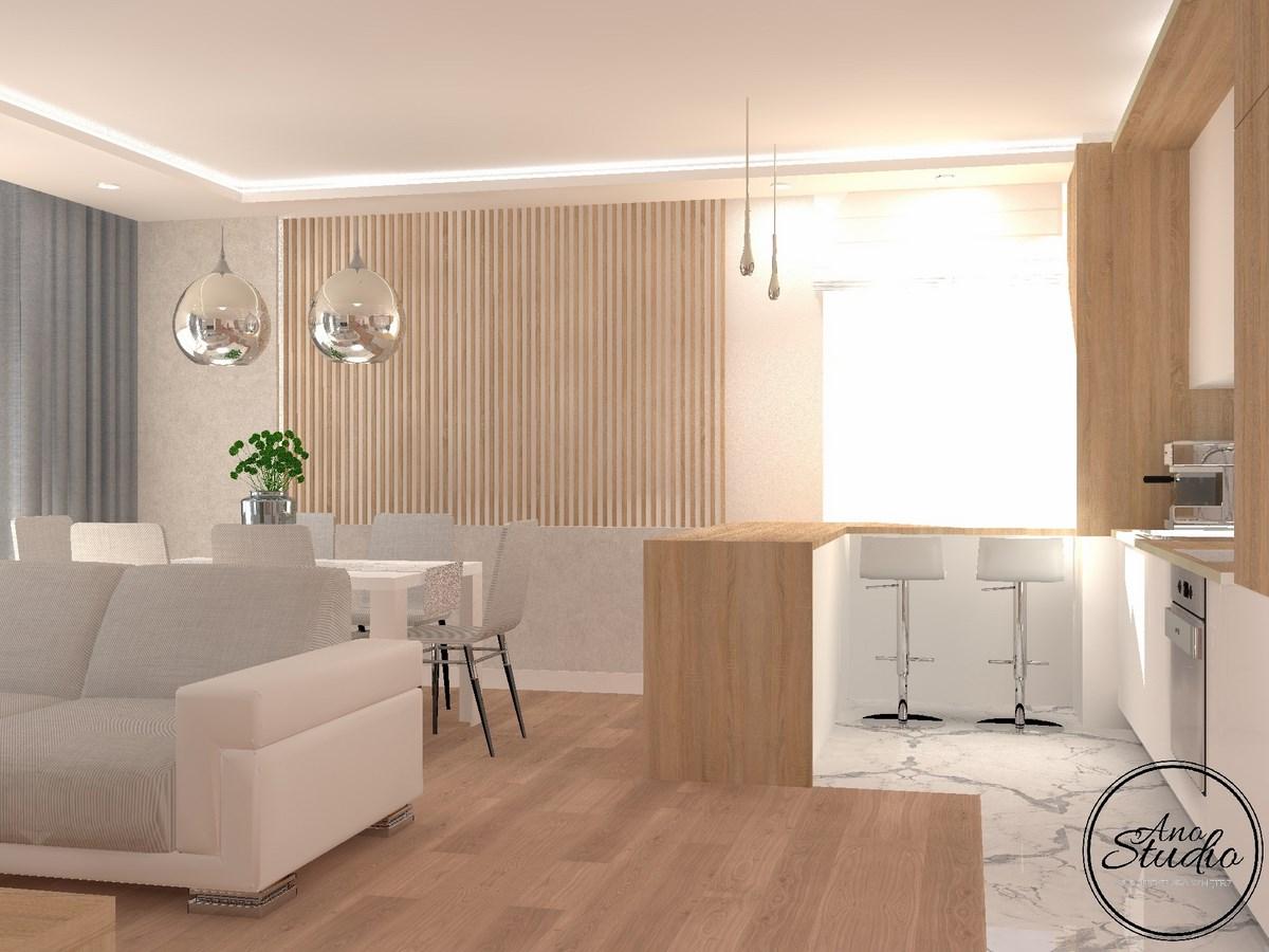 Strefa Dzienna 40 M2 Ano Studio Architekt Wnętrz